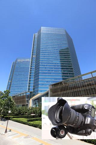 广角镜头拍摄建筑
