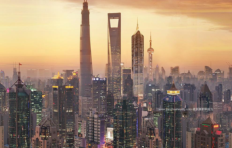 上海魔都建筑群全景照片