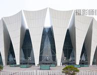 上海东方体育中心工程摄影