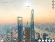 上海空中720度鸟瞰全景摄影